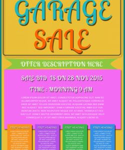 free printable garage sale flyers templates  attract more rummage sale flyer template doc