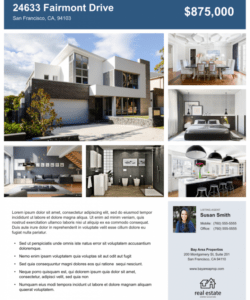 free real estate flyer free templates  zillow premier agent rental property flyer template