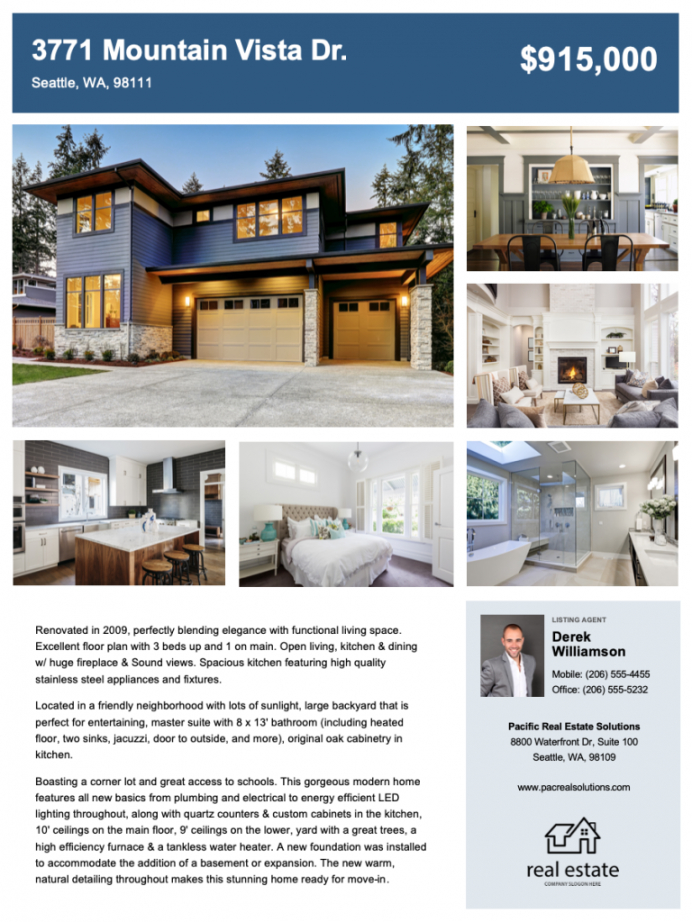 free real estate flyer free templates  zillow premier agent rental property flyer template doc