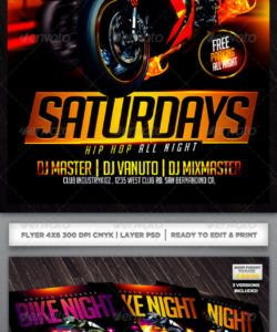 free ride graphics designs & templates from graphicriver bike night flyer template and sample