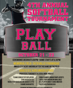 free softball challenge flyer softball fundraiser flyer template pdf