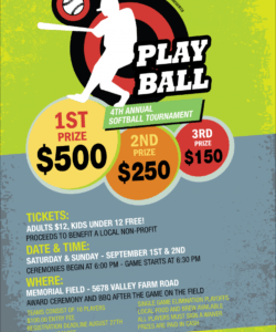 free softball poster softball fundraiser flyer template pdf