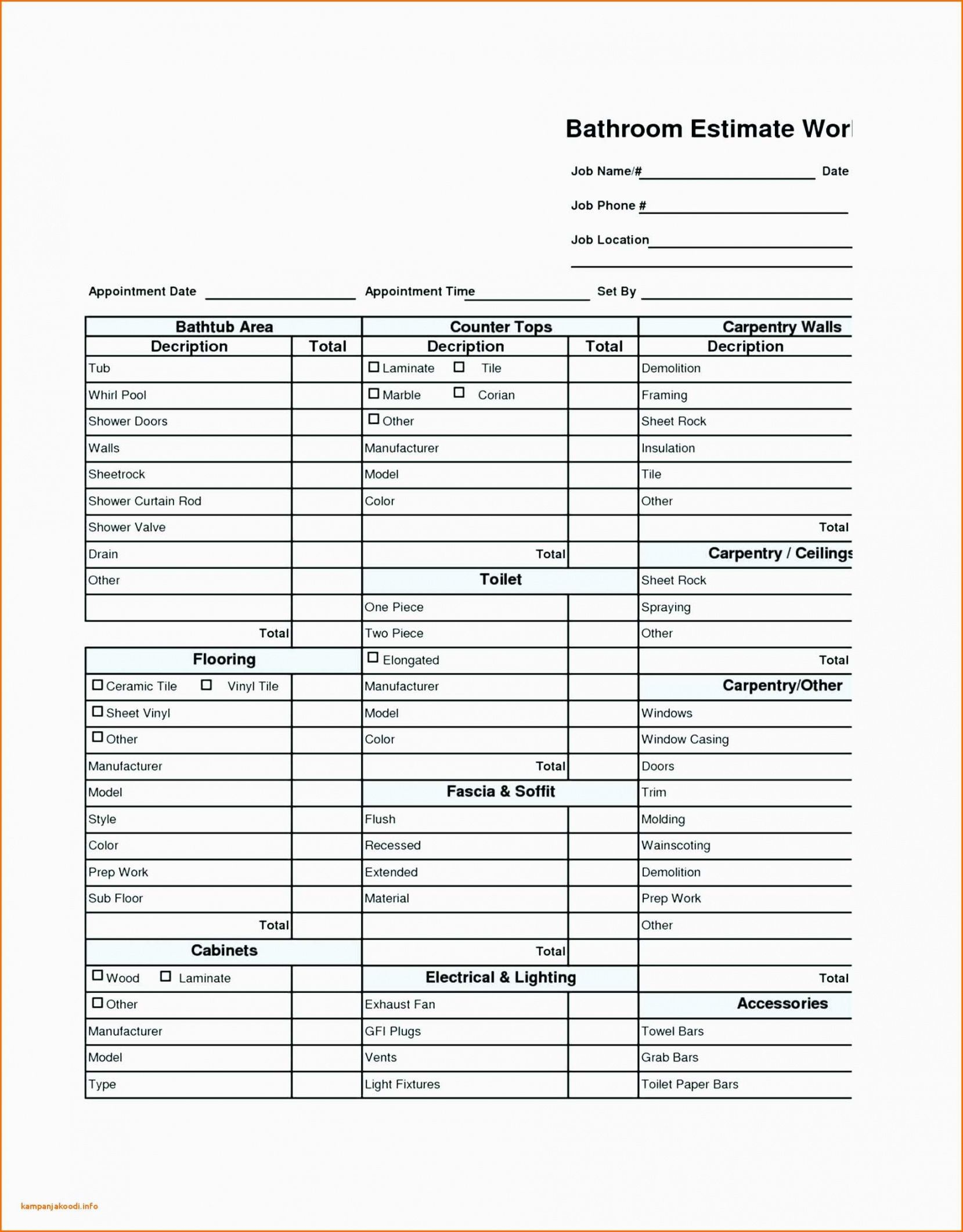 free spreadsheet construction budget excel home renovation kitchen renovation checklist template pdf