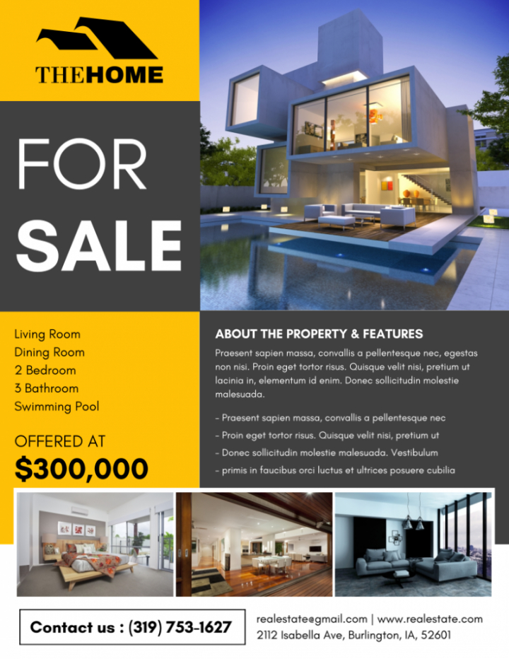free the best real estate flyer for all realty companies rental property flyer template and sample