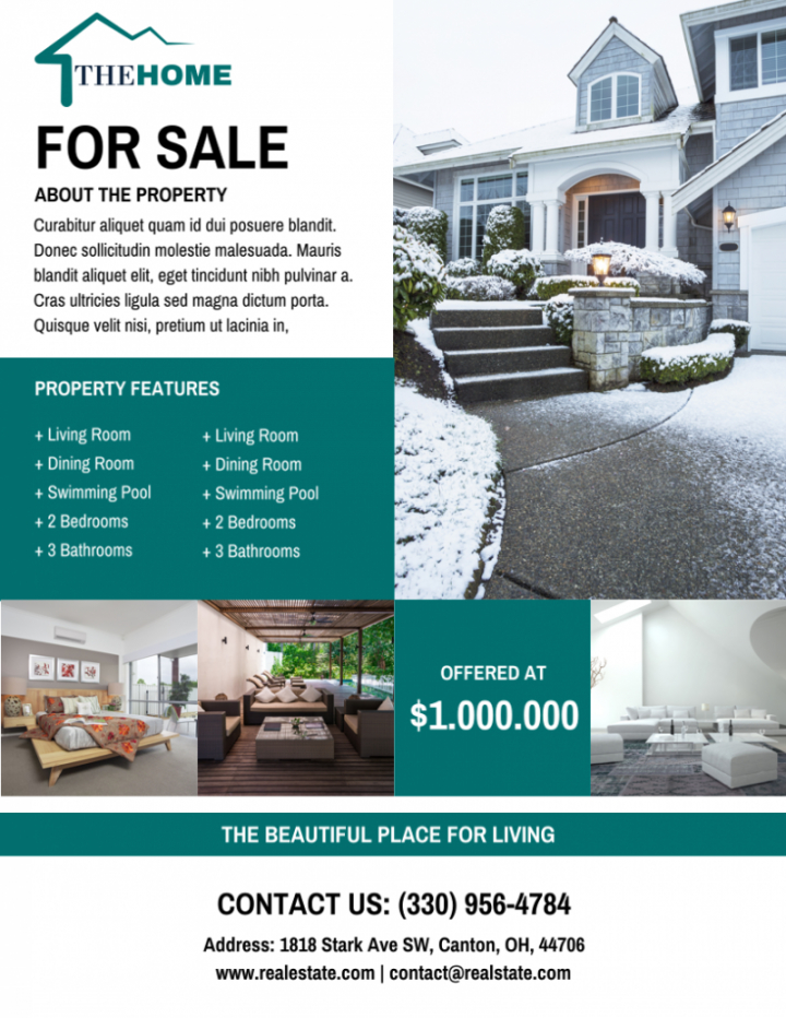 free the best real estate flyer for all realty companies rental property flyer template doc