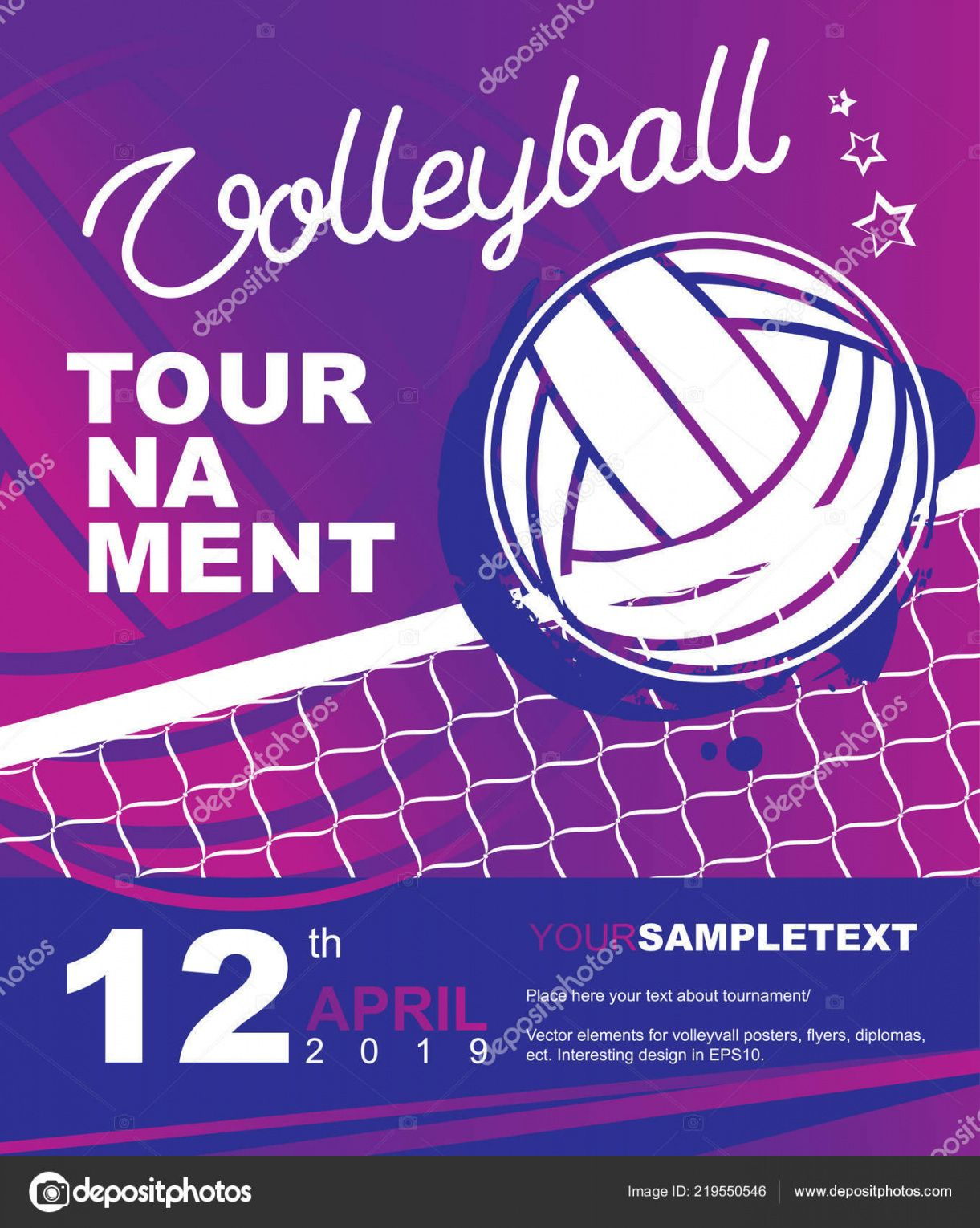 free volleyball tournament poster banner or flyer template vector illustration  for sport design 219550546 volleyball tournament flyer template