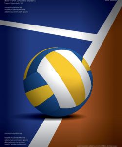 free volleyball tournament poster template design vector volleyball tournament flyer template and sample