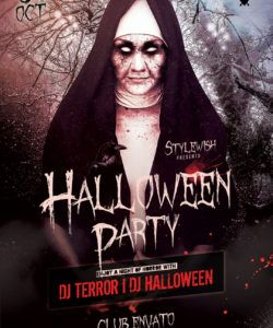 halloween party flyer on behance costume party flyer template pdf