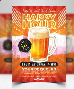 happy hour promotion flyer psd template  psd zone club promo flyer template pdf