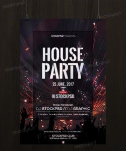 house party  download free psd flyer template  stockpsd club promo flyer template