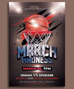march madness basketball flyer template by hotpin on dribbble basketball game flyer template and sample