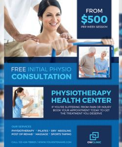 physiotherapy clinic flyer template by owpictures on dribbble physical therapy flyer template doc