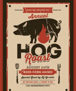 pig roast event flyer corporate identity template pig roast flyer template pdf