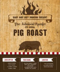 pig roast flyer pig roast flyer template