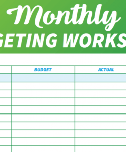 printable 14 free budget templates and spreadsheets  gobankingrates easy monthly budget template sample