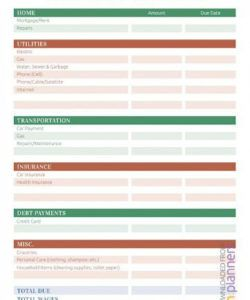 printable free household budget templates ~ addictionary personal household budget template excel