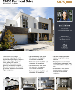 real estate flyer free templates  zillow premier agent rental property flyer template