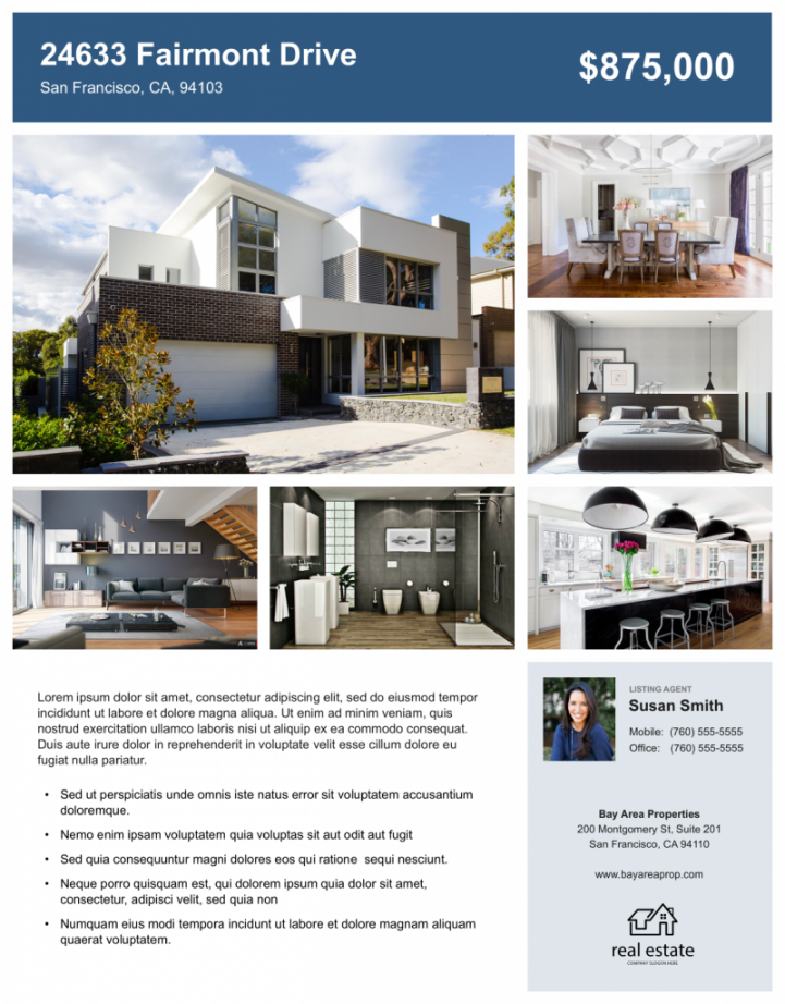 real estate flyer free templates  zillow premier agent sell your house flyer template doc