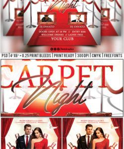 red carpet night  flyer red carpet event flyer template
