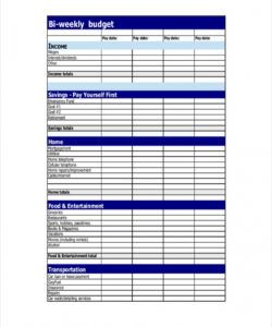 sample free 9 biweekly budget examples & samples in google docs bi weekly household budget template excel