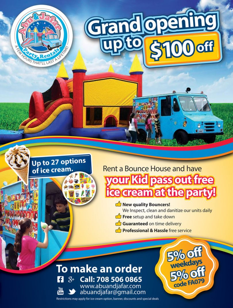 sample room for rent flyer  new sample x bounce house flyer template