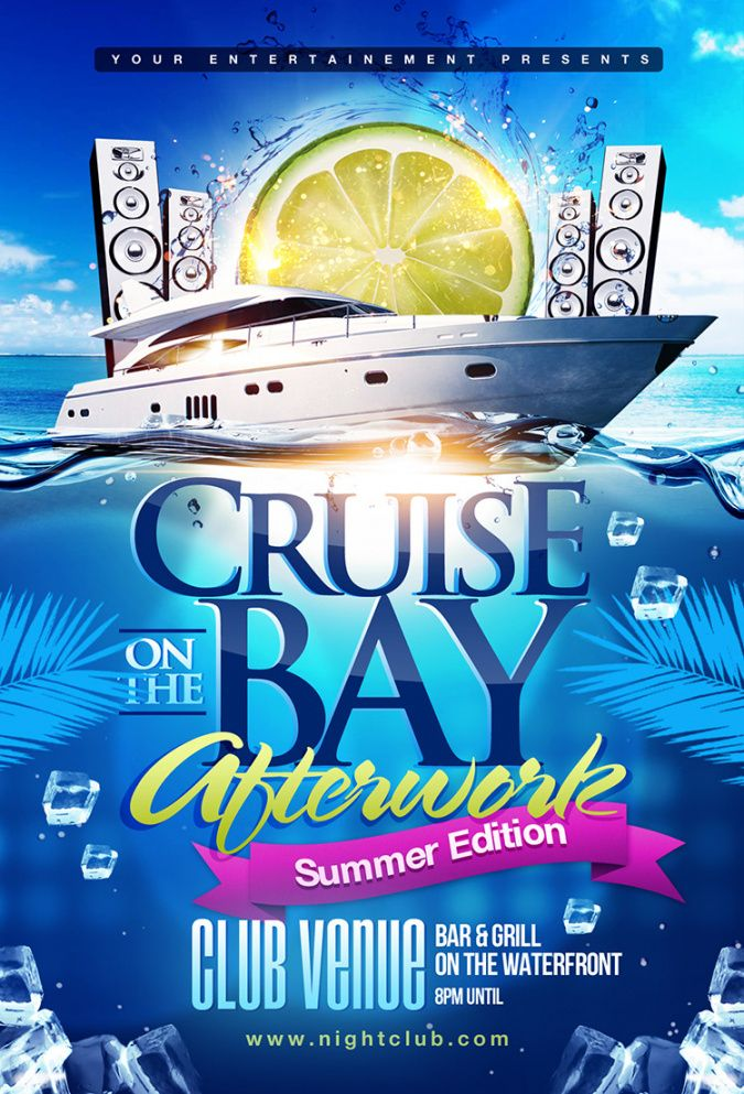 summer boat cruise party flyer psd template on behance boat cruise flyer template and sample