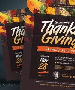 thanksgiving service flyer corporate identity template community service flyer template