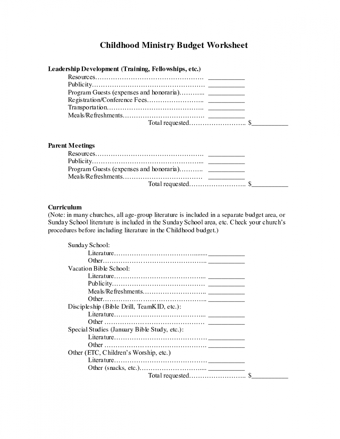 youth ministry budget template ]  budget template sample youth ministry budget template word