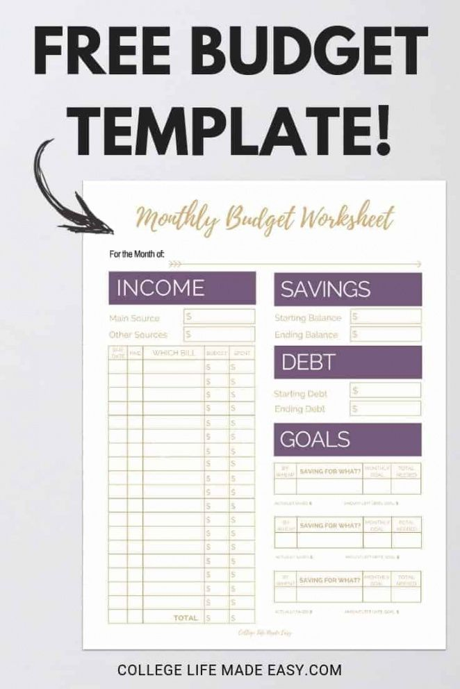 20 gorgeous free budget printables  i want a bit more single person budget template pdf