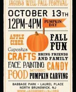 8 best images of free printable fall flyer templates  fall fall event flyer template doc