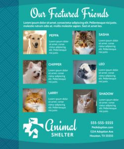 animal shelter & pet adoption flyer template adopt a pet flyer template and sample