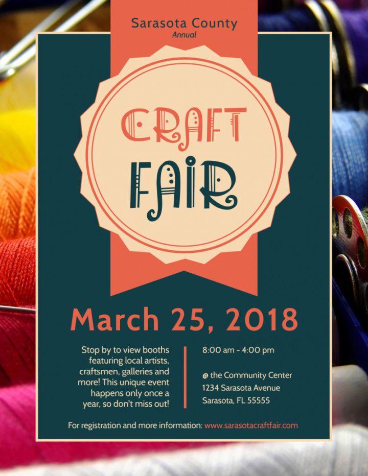 awesome craft fair flyer template  mycreativeshop county fair flyer template and sample