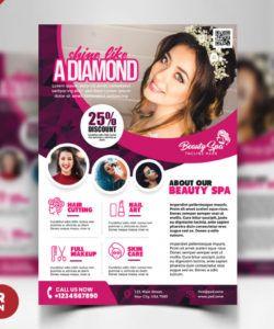 beauty salon flyer template psd  psd zone beauty salon flyer template doc