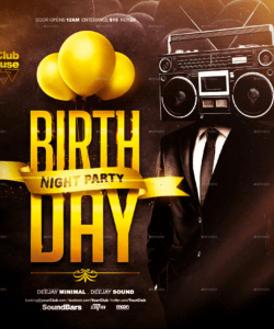 birthday flyer template birthday celebration flyer template and sample