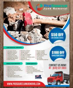 bold playful flyer design job flyer brief for a company in junk removal flyer template pdf
