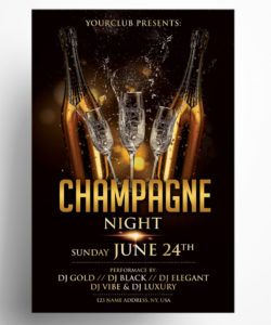 champagne night  free luxury psd flyer template  pixelsdesign service industry night flyer template