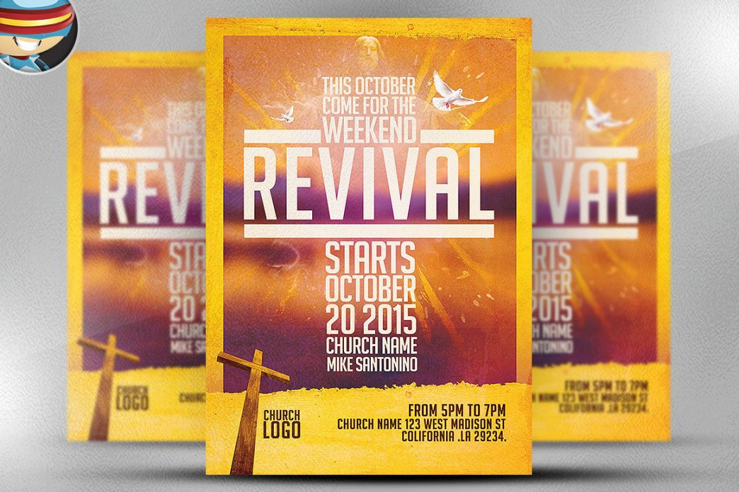 church revival flyer template on behance church revival flyer template doc