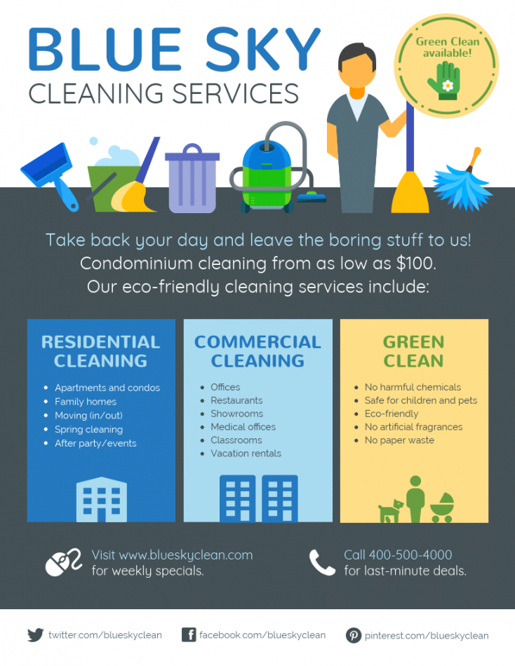 cleaning service flyer maid service flyer template doc