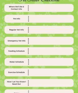 companion pet products  printable pet sitter checklist pet sitter checklist template excel
