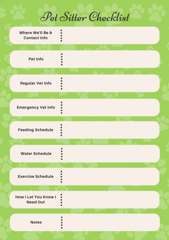 companion pet products  printable pet sitter checklist pet sitter checklist template excel