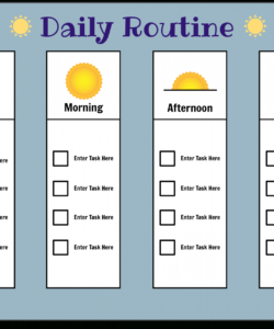 daily routine chart storyboard por postertemplates morning routine checklist template pdf