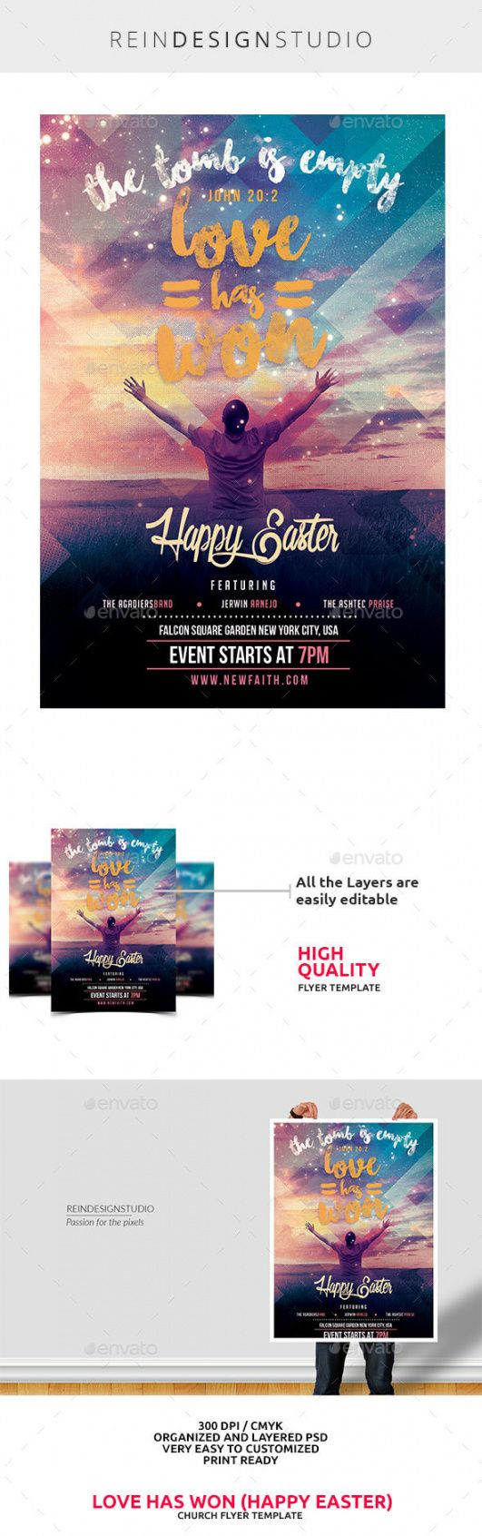 easter church flyer graphics designs & templates easter church flyer template doc