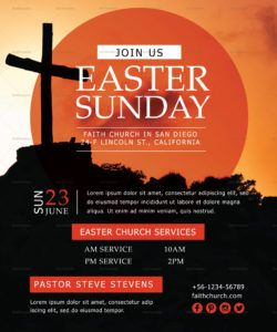 easter sunday flyer design template in psd word publisher easter church flyer template