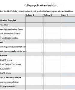 editable application checklist template  welding rodeo designer college application checklist template samples