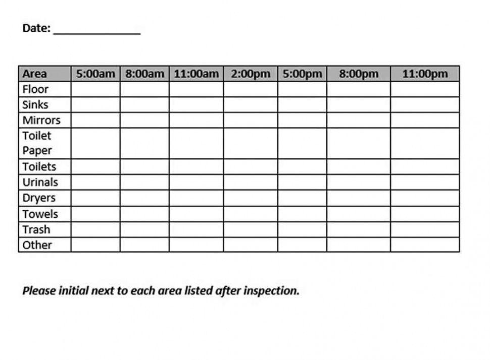 editable bathroom cleaning schedule template  think moldova bathroom cleaning checklist template samples