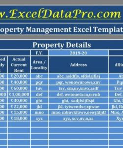 editable download rental property management excel template property management budget template