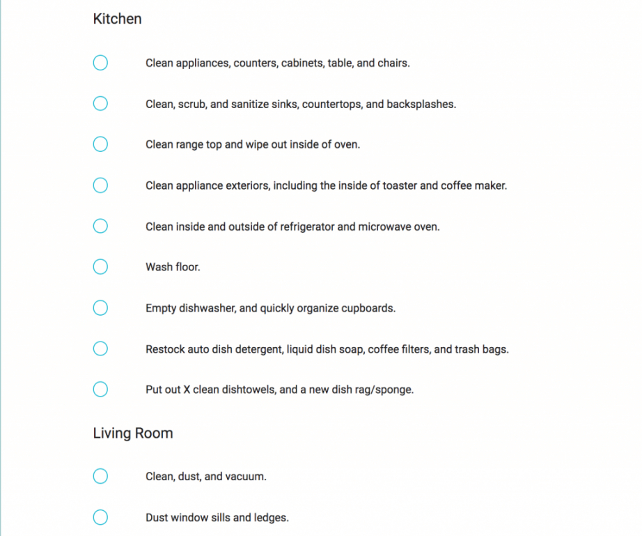 editable vacation rental checklist  turnoverbnb vacation rental checklist template doc