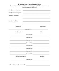 editable wedding party list template  fill online printable wedding dj checklist template samples