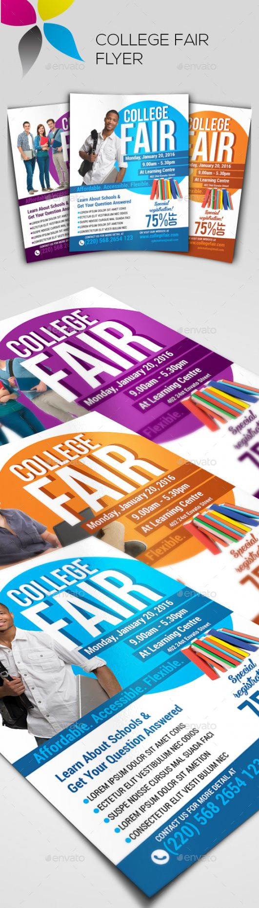 fair advert stationery and design templates from graphicriver college fair flyer template and sample