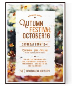fall festival flyer template psd  docx fall event flyer template and sample